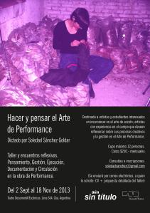 Hacer y pensar el Arte de Performance