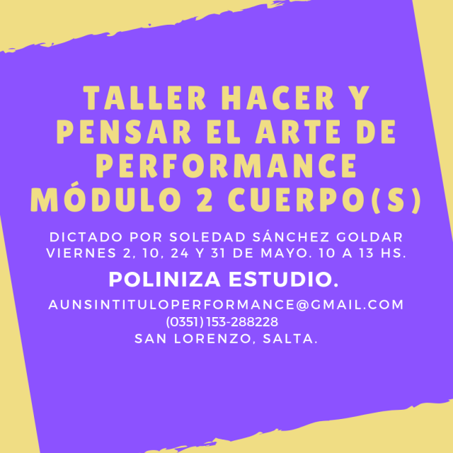Taller hacer y pensar el arte de performance